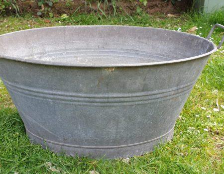 Galvanised Oval Tub #62