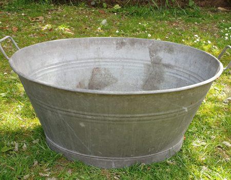 Galvanised Oval Tub #63
