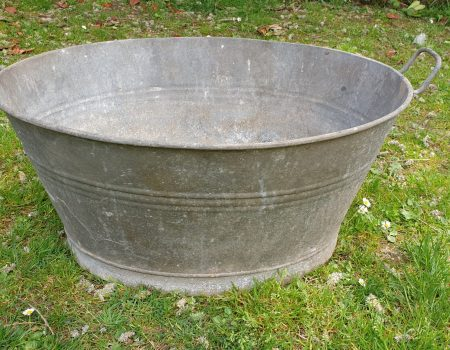 Galvanised Oval Tub #64
