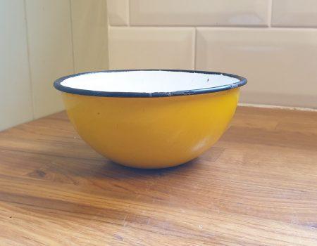 Round Enamel bowl #77