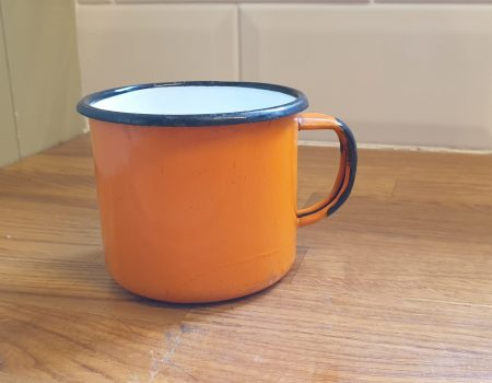 Round Enamel Mug #80