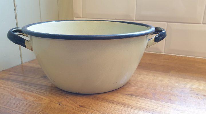 Round Enamel Bowl #82
