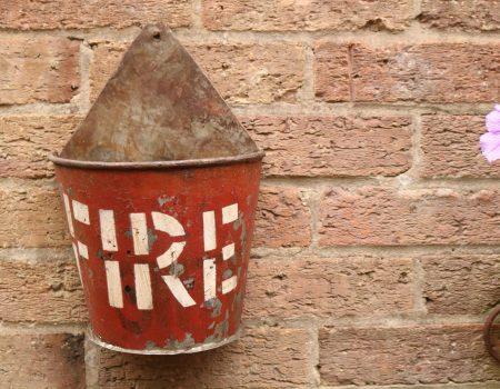 Reclaimed Fire Bucket