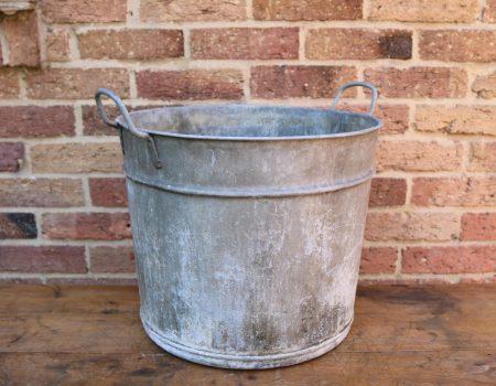 Round Galvanised Tub #12