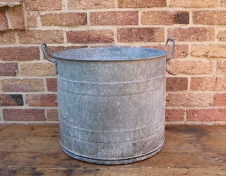 Round Galvanised Tub #14