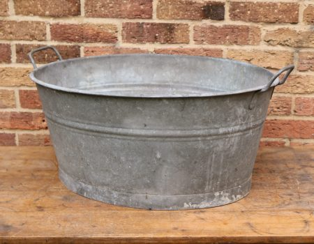 Galvanised Oval Tub #16
